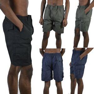 Mens Elasticated Casual Cargo Shorts Summer Half Pants  BIG Size 4XL 5XL 6XL