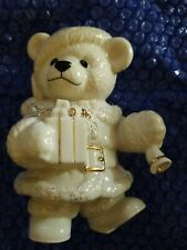 "Beautiful Large Lenox Christmas Teddy Bear No box 6"" High"