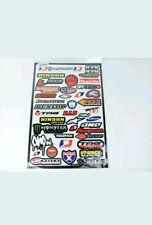43 Teilig - Motorrad Sponsoren Aufkleber - Set size 45x30