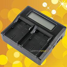 Fast Quick Double Dual Battery Charger fr Canon 5DS 5DR 6D 7D 80D LP-E6 LP-E6N