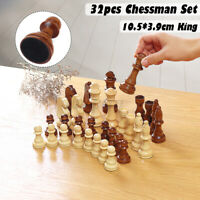 32Pcs/Set Large 10.5cm King Size Toy Wooden Carved Chess Pieces Hand Crafted Set