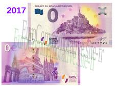 Billet Touristique Zéro Euro Souvenir France 2017 Abbaye Mont Saint Michel !
