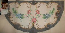 """Handpainted Rug Canvas by Smyrna Laine 1/2 round 51"""" 3.5 sts to the inch"""