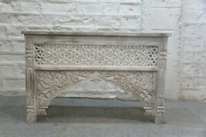 PRE ORDER unique Hand Carved Indian Hall console Table 1.2m Vanity Whitewash