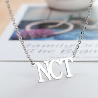 KPOP NCT NCT127 Name Letter Stainless Steel Pendant Necklace Adjustable Necklace