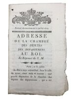 Louis 18 restauration 1814 marquis Albertas rare document imprimé à Marseille