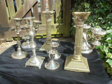 mixed lot of CANDLE STICK HOLDERS