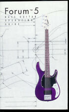 Very Rare Vintage Factory Peavey Forum 5 Bass Guitar Owner's Manual