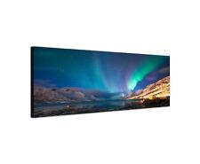 120x40cm Polarlichter Norwegen Panorama Norden Sterne Phänomen Bild Sinus Art