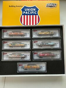 N Scale Enthusiast  Union Pacific Heritage 42' Coil Car Set 7 Car Set