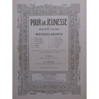 MENDELSSOHN Hope´s Chant Piano ca1910 partitura sheet music score
