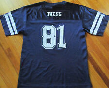 Youth Size XL NFL Dallas Cowboys #81 Terrell Owens Genuine Apparel Blue Jersey