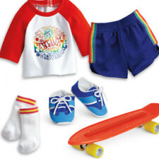 American Girl JULIE SKATEBOARDING SET Julie's Retired Clothes Hippie Outfit NEW