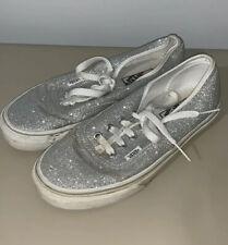 Vans Silver Sparkle Glitter sneakers Women's size 6.5