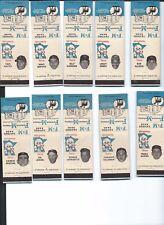 Minnesota Twins 1961 matchcovers; Lot of 10; Killebrew, Allison, Pascual, Ramos