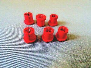 LEGO PART X1299 RED TECHNIC BUSH WITH LIP x 6