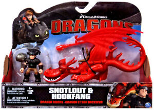 DRAGON RIDERS SNOTLOUT & HOOKFANG DEFENDERS OF BERK HOW TO TRAIN YOUR DRAGON