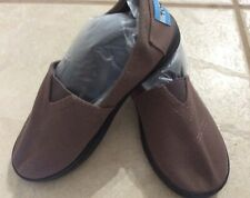 TOMS  Youth Girls Espadrilles Flats Slip On One For One Shoes Sz Y 1 ,Brown NEW.