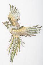 Crewel Embroidered Hawk Needle Work Kit Falcon Flying Bird Kite Stump Work Decor