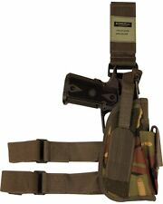 BRITISH ARMY STYLE  TACTICAL LEG DROP HOLSTER DPM WOODLAND CAMO