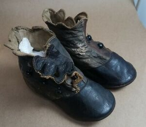 Victorian Era Button Up Leather Baby, Toddler Shoes