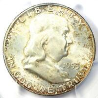 1953-D Franklin Half Dollar 50C Coin - Certified PCGS MS66 FBL - $425 Value!