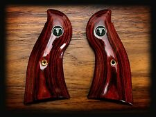 RUGER REDHAWK OXBLOOD GRIPS ~ WITH 3D STEER SKULL MEDALLIONS