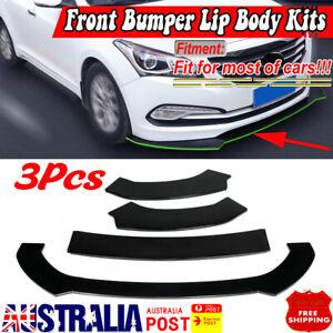 For Hyundai Elantra Accent Veloster Genesis 3X Front Bumper Lip Spoiler Splitter