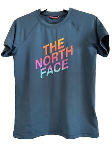 North Face NWT girls L 14/16 DlashDry shirt Navy UPF 50
