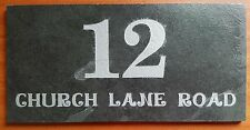 Quality Engraved Slate Name Plate,Address Number Plaque, House Name Any Message!