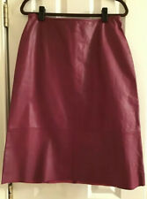 Banana Republic GENUE LEATHER Skirt NWT Midi length size 12