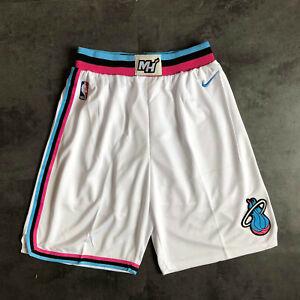 Miami Heat City Edition Blue Pink White Black Basketball Shorts