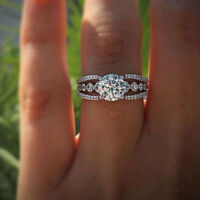 Fashion Bling Zircon Crystal Rhinestone Ring Women Wedding Jewelry Gifts WE