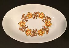 "Vintage Wunsiedel 9"" Oval Dish Art Deco Floral Design Bavaria Germany MINT! EUC"