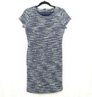 Banana Republic Women's Knit Sheath Dress Size 4 Blue White Marled Career