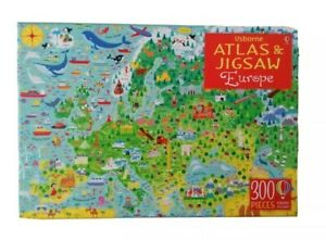 The Usborne  Europe with book atlas Jigsaw Puzzle, 300 pieces