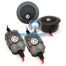 """Memphis Prx1 Car Audio 1"""" Pei Dome Tweeters 100W Max With Crossovers Pair New"""