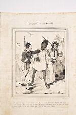CARICATUREE de BEAUMONT La Civilisation aux Iles Marquises 18 Rixe