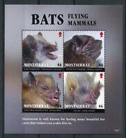 Montserrat 2017 MNH Bats Flying Mammals 4v M/S Bat Wild Animals Stamps