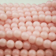 Lovely 16pcs 10mm Round Glass crystal Pearl Loose Spacer Beads BABY PINK