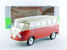 WELLY 1:18 AUTO VOLKSWAGEN T1 BUS  1963  RED ROSSO  ART. 18054