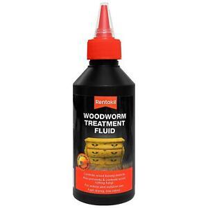 Rentokil Woodworm Wood Boring Insect Treatment Fluid, Indoor/Outdoor Use - 500ml
