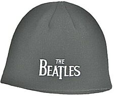 Beatles Drop T logo (black) woven beanie hat - licensed product  (ro) REDUCED