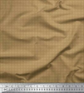 Soimoi Purple Cotton Poplin Fabric Artistic Geometric Print Fabric-qOc
