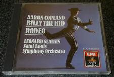 AARON COPLAND-BILLY THE KID/RODEO-USA 1ST ISSUE CD 1986-LEONARD SLATKIN-RARE