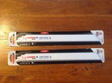 "lenox sawzall blades 10 blades total 12"" gold 2110012110gr"