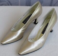 7.5 | Stuart Weitzman Vintage Women Gold Leather Classic High Heel Pump Shoe