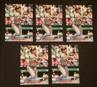 LOT of (5) GLEYBER TORRES 2018 TOPPS UPDATE ROOKIE ALL STAR  #US99