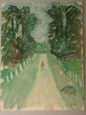 Peinture Original Gouache EDOUARD GOERG (1893-1969) Chemin EG24