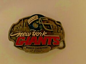 NEW YORK GIANTS BELT BUCKLE FOOTBALL NFL UNUSED LIMITED EDITION Fans Only